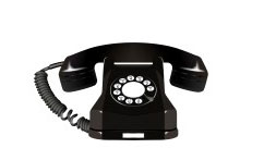 7261548-old-telephone-against-white-background